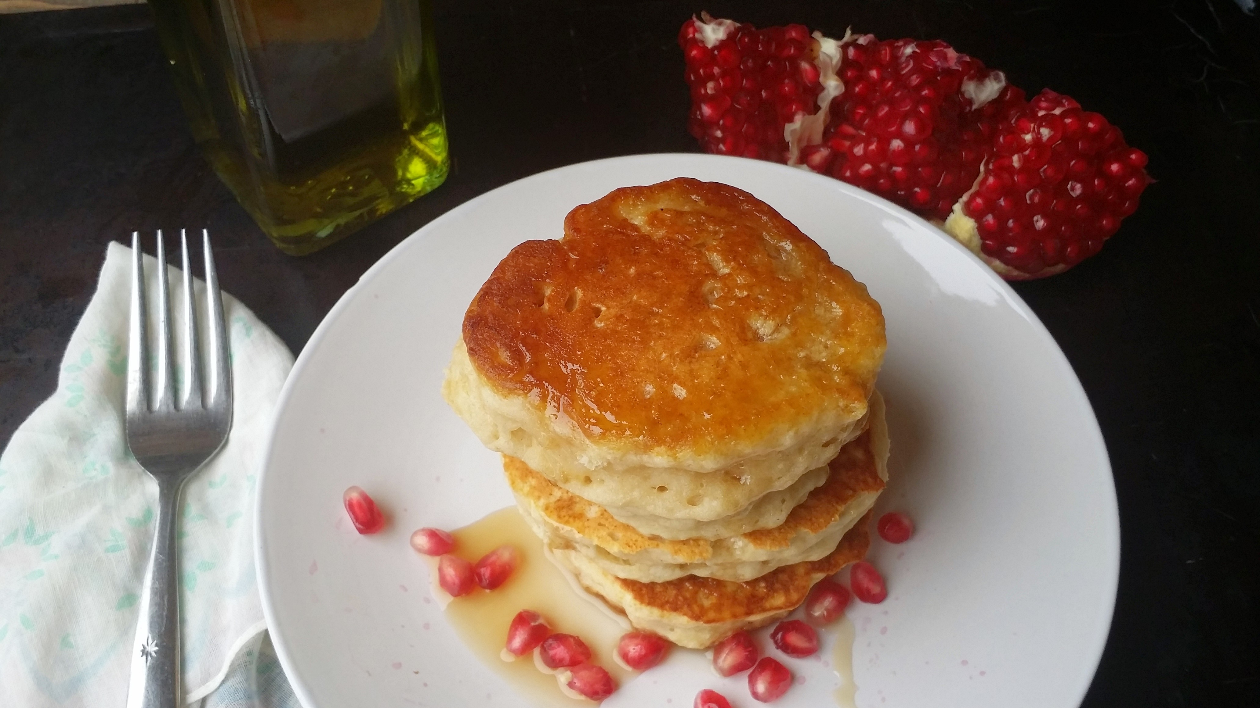 Easy Italian Pancakes with Pomegranate