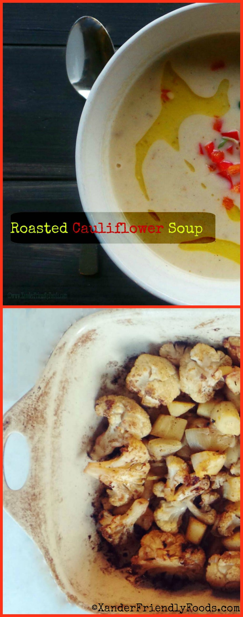 Roasted Cauli Soup Collage