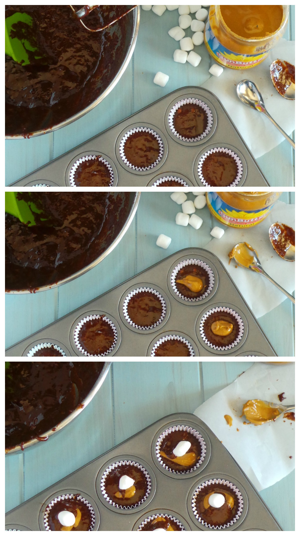 Chocolate Sunbutter Cupcakes Collage