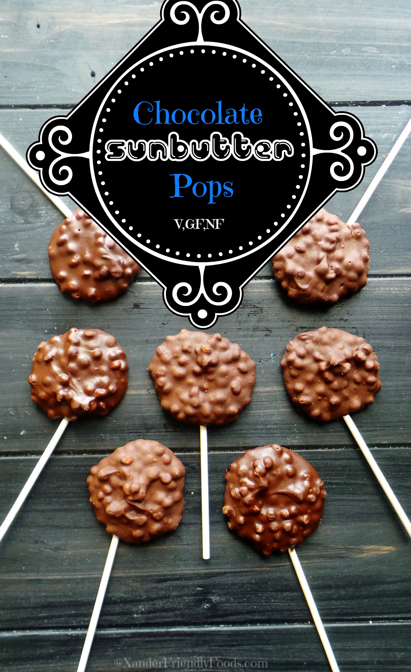 Chocolate Sunbutter Crisp Pops