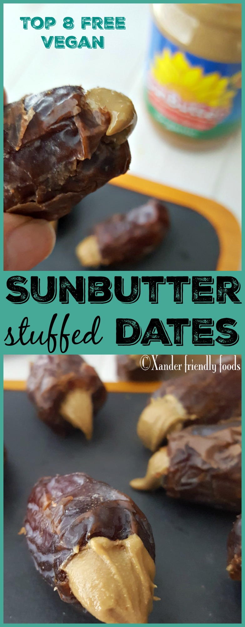 Stuffed dates collage