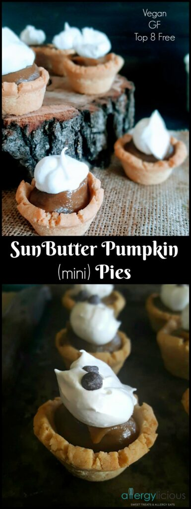 SunButter & Pumpkin are the perfect combination for creating these mouth-watering, deliciously smooth & creamy bite sized pies. GF, Top 8 Free, Vegan